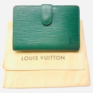 LOUIS VUITTON Epi French Purse Wallet w dust bag